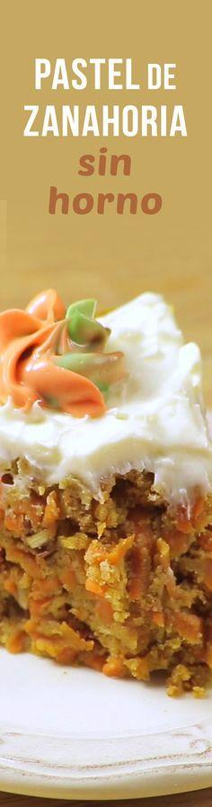 El pastel que más te gusta pero en su versión sin horno. Prepáralo con el panqué del día anterior y dale todo el sabor de un verdadero pastel de Zanahoria, ¿Así o más rico? Más