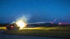 Challenger Tank night firing