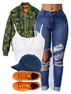 """I ain't sorry."" by cheerstostyle ❤ liked on Polyvore featuring Topshop, Brooks Brothers, adidas and Jessica Simpson"