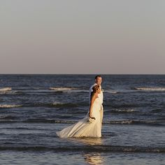 CONGRATULATIONS Josh and Kayla! No effect or post production on this pic. They took a walk in the water. #stephenpalmerweddings #tybeeisland #beachwedding