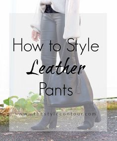 On the blog, I'm sharing some #styletips on how to wear #leatherpants. I know it's a piece that some either absolutely love, while others are intimidated by. Listen, you won't end up like Ross, lol! Stop by to read my tips on how to approach styling them in ways that are easy and always chic. Only Fashion, Fashion Beauty, Winter Style, Autumn Winter Fashion, Hourglass Body Shape, Apple Body Shapes, Flattering Outfits, Daytime Outfit, My Beautiful Friend