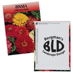 This personalized seed packet is the perfect set-up for great customer relations!