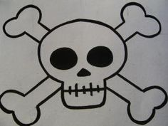 calavera pirata para niños - Buscar con Google Wood Burning Patterns, Pirate Skull, Pirate Theme, Pirate Flags, Jolly Roger, Skull Design, Skull And Bones, Painted Rocks, Stencils