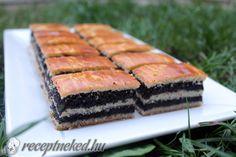 bejgli szelet Sweet Desserts, Sweet Recipes, Vegan Recipes, Ital Food, Good Food, Yummy Food, Hungarian Recipes, Holiday Dinner, Cake Cookies