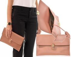 BALENCIAGA Padlock Clutch. Love the clean lines and classic silhouette!