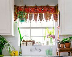 boho type of curtain, just my style
