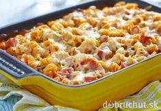 Zapekaná cuketová zmes Easy Pasta Dinner Recipes, Baked Pasta Recipes, Sauce Recipes, Wine Recipes, Easy Meals, Cooking Recipes, Party Recipes, Ham Pasta, Pasta Dishes
