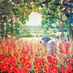 original_horse-in-an-english-summer-landscape.jpg (900×900)