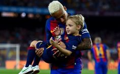 Ney & Davi before the match Barcelona vs Alaves 09/09/2016