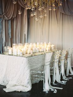 La Tavola Fine Linen Rental: Savannah Ivory | Photographer: Megan Pomeroy Photography, Venue: The Living Room, Creative Direction & Styling: Lovestru.ck Weddings + Events, Flowers, Draping & Lighting: Blooms & Bouquets
