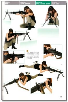 Drawing! Gun & Knife Combat Poses Style Graphics Reference Book - Anime Books - Drawing Reference