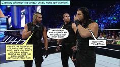 The Shield adopt new tactics... Credit JenJ@forever_ambrose
