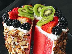 Wassermelonen-Torte - sommerlich und fruchtig