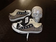 Custom Spike Studded Converse Shoes ONE SIDED by CustomStudded, $165.00
