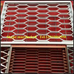 framed alu expanded metal mesh facade