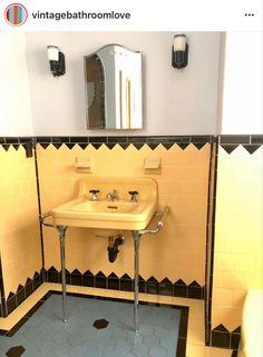 Retro Bathrooms, Beautiful Space, Sink, Instagram, Design, Home Decor, Sink Tops, Vessel Sink, Decoration Home