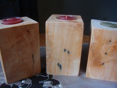 Wood Candle Holder Set of 3/ Home Decor/ by DivineRusticCreation, $30.00