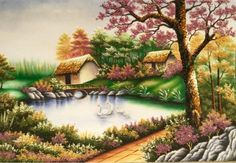 gemstone-painting-happy-small-house