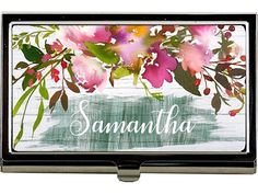 Personalized Gift for Women, Personalized Business Card Case, Coworker Gift, Valentine's Day Gift, Office Accessories, Personalized Gift