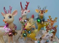 Christmas •~• vintage embellished reindeer