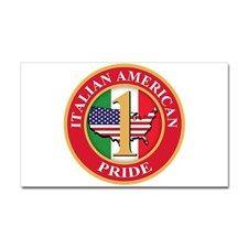Italian american Pride Sticker (Rectangle) for