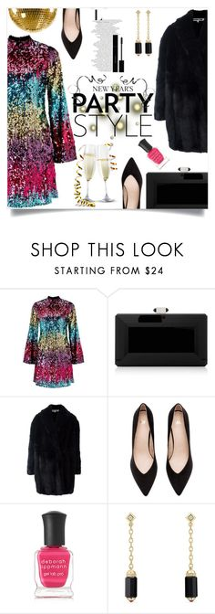 """""""New Years Party Style"""" by dancer132006 ❤ liked on Polyvore featuring Miss Selfridge, Judith Leiber, McQ by Alexander McQueen, Deborah Lippmann, David Yurman and Gucci"""