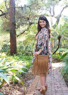 La Petite Fashionista: Kimono Jacket + Lace Shorts