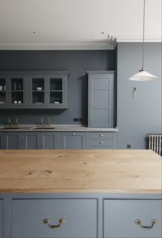 """Plain English Design Spitalfields and Folgate doors with Georgian Antique Brass ironmongery and paint colours are Plain English """"Draughty Passage"""" to cupboard exteriors and LGPCo """"Mid Lead"""""""