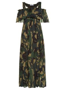 Swallow camouflage-print crepe dress   Sonia Rykiel   MATCHESFASHION.COM UK