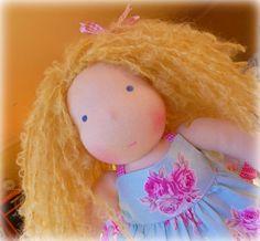 Madeline a 12 Waldorf Steiner Doll ready to go. Made by DebsSteinerDolls