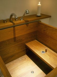 Bathroom Photos: Interesting wood (teak?) take on a Japanese soaking tub?