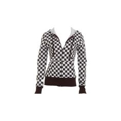 Checkered Hoodie - Teen Clothing by Wet Seal ($20) found on Polyvore