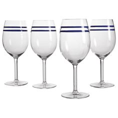 Set of 4 Ocean Ink Outdoor Wine Glasses - Pomp & Cermony - On Temple & Webster today!