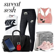 """Untitled #163"" by konstans30 on Polyvore featuring NIKE, Martex, MICHAEL Michael Kors, Kreafunk, Swell, Samsung and Clarins"