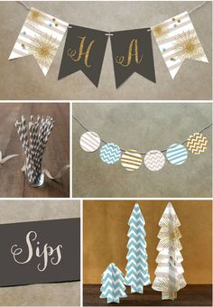 Glitter Bling Party Theme from @Minted #holidayentertaining #party