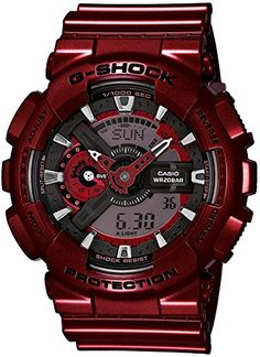 Casio GShock RedTone Analog Digital Dial Resin Quartz Mens Watch GA110NM4A >>> Visit the image link more details. Note:It is affiliate link to Amazon.