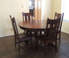 d0b37736576cd Montrose Dining Table and Dining Chairs in Chocolate Cherry from Erik  Organic