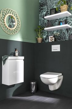 Wc Decoration, Pack Wc, Wc Design, Toilette Design, Bathroom Design Small, New Homes, Sweet Home, Leroy Merlin, Home Decor