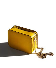 Valextra small Dada bag, yellow accessories / Garance Doré