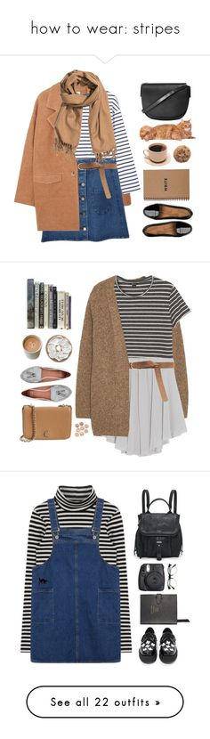 """how to wear: stripes"" by timeak ❤ liked on Polyvore featuring MANGO, H&M, FitFlop, Topshop, Brika, bhalo, Violeta by Mango, Monki, Enza Costa and Zara"