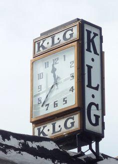 K.L.G. Art Deco Clock: