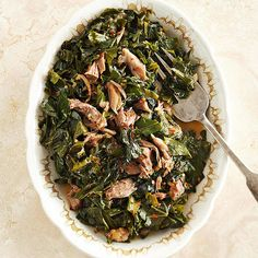 Collard Greens & Pot Likker | Pot likker, the juice left in a pot after collards cook, is traditionally valued as a delicacy and aphrodisiac. Be sure to sop up the vitamin-rich pot likker with your cornbread or make it into this warm and comforting soup.