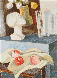 Still life staty med Agnes Cleve