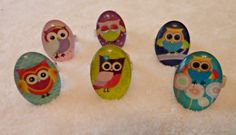 Adjustable ring plated rings Owl domed glass by Tottie Tootles various pictures available £1.99 Available for sale at etsy.com/uk/shop/tottietootles