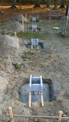 5.11.15 - The first layer of 8 point foundations has been completed. I spent 4 cubic meters of gravel, 30 bags of cement, 150 gallons of water and 6 hours of hard work. Tomorrow continue with anchors and a second layer of concrete.