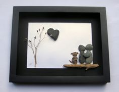 Reserved for MD-Pebble Art Couple- Personalized for Couple -Unique Couple and Dog Gift-Personalized COUPLE'S Gift-SticksnStone -Pebble Art by SticksnStone on Etsy