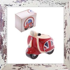 Union Jack egg cup retro scooter