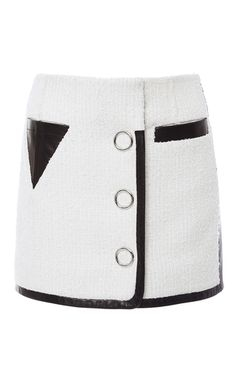 Slubbed Tweed Triangle Pocket Mini Skirt by Alexander Wang Fancy Skirts, Casual Skirts, Cute Skirts, Colour Blocking Fashion, Bikini Outfits, Fashion Project, Best Wear, Aesthetic Clothes, Alexander Wang