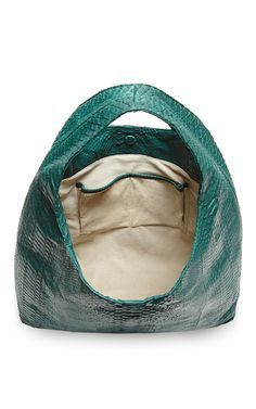 Emerald Matte Python Hobo Bag by HUNTING SEASON for Preorder on Moda Operandi