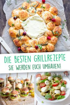 """Jetzt zur Grill-Saison gibt es viel mehr Möglichkeiten, als """"nur"""" das Fleisch a… Now, during the barbecue season, there are many more ways to """"just"""" throw the meat on the grill. I'll show you delicious and creative recipes for grilling Barbecue Recipes, Grilling Recipes, Meat Recipes, Slow Cooker Recipes, Plancha Grill, Best Side Dishes, Grilled Meat, Different Recipes, Summer Recipes"""